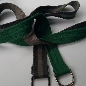 Canvas belts set of 2